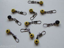 10 X Running Ledger Lead Feeder Link Swivels Beads Snap Carp Bolt Pulley Rig