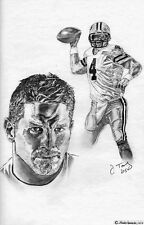 Brett Favre Green Bay Packers drawing sketch art poster
