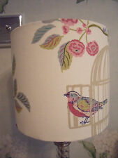 Handmade Lampshade Vintage Song Bird Fabric 20 Cm Drum