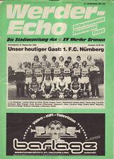 BL 83/84  SV Werder Bremen - 1. FC Nürnberg