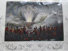 STORMING of BADAJOZ SPAIN 1812 - Hand Colored Engraving 19th C