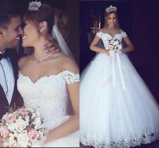 New White Ivory Wedding Dress Ball Bridal Gown Custom Size 6 8 10 12 14 16 18 +