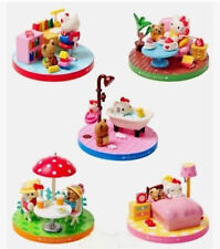 5x Hello Kitty Miniature Doll House Furniture Petend Toy Decor stand Collection