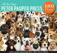 All The Dogs 1000 Piece Jigsaw Puzzle Australian Shepherd, Beagle, Collie +More