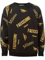 Moschino Couture Mainline Jumper 100% Cotton Made in Italy BNWT Sz L Black