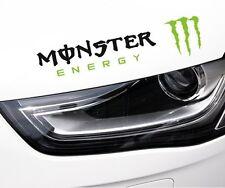 ☆ nuevo ☆ increíble Monster Faros De Cejas Automóvil Pegatinas Calcomanías Gráficos (Negro)