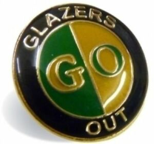 Green and Gold GO - Glazers Out Badge Manchester United Supporters' Trust