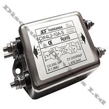 2-étape secteur line emi puissance de bruit filtre suppresseur simple 1 phase system 10A