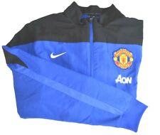 Nike Manchester United Aon Warm Up Training Jacket Full Zip Blue Black Xxl