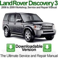 Land Rover Discovery 3 2006 To 2009 atelier, Service and Repair Manual Télécharg...