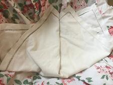 Antique French 100% Floppy linen Pillow sham Monogram Euro Case Square Ladder