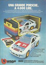 X1168 BBURAGO - PORSCHE 924 Turbo da Rally- Pubblicità 1983 - Advertising