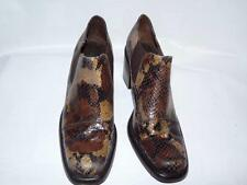 GUESS Brown Snakeskin Ankle Booty Heels Size 7