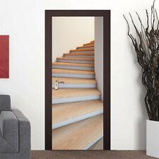 """Adhesive 3D Door Wallpaper Mural Stairway WALLPAPER Art Home DIY Decor30.3x78.7"""""""