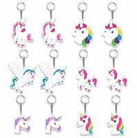 24pk Unicorn Keychains Girl Birthday Party Favors Easter Basket Toys Bag Fillers