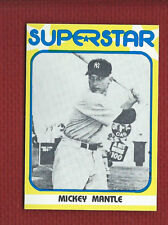 MICKEY MANTLE 1982 SUPERSTAR 1st Series #33 New York Yankees Only One on eBay
