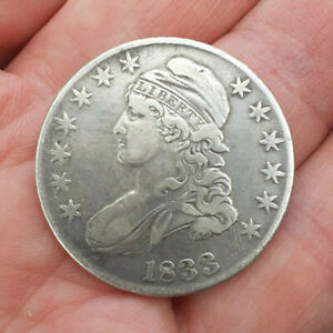 USA  Silver 1833 CAPPED BUST  50 Cents  HALF DOLLAR  Lovely clean Example