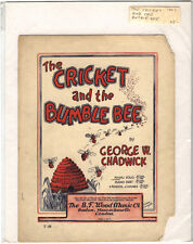 Rare Antique Orig VTG 1903 Cricket And The Bumble Bee Piano Sheet Music Print