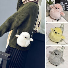 Girls Lolita Plush Chick Handbag Shoulder Bag Chain Gray mini Purse ideas Xmas
