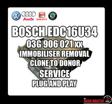 VAG VW AUDI SKODA SEAT ECU EDC16U34 dispositif d'immobilisation immo off ecu Clone service rapide!