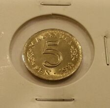 Willie: 1988 Malaysia 5 cents unc