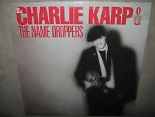 CHARLIE KARP & The Name Droppers RARE SEALED New Vinyl LP 1987 Mark Epstein Blue