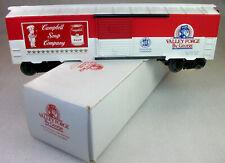 PVP: VERY RARE 1989 VALLEY FORGE TCA. CAMPBELLS SOUP BOX CAR MINT ORIGINAL BOX!
