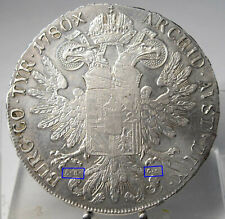 RRR!! Maria Theresia Taler 1780, Karlsburg, H3a Var., Silber