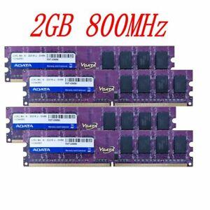 8GB 4x 2GB DDR2 800Mhz PC2-6400U 240Pin DIMM Desktop intel PC Memory RAM ADATA