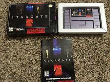 Stargate (Super Nintendo Entertainment System, 1995) SNES Complete Box Manual