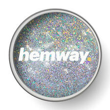 Hemway Silver Rainbow Holographic 1L Clear Glitter Paint Glaze Pre Painted Walls