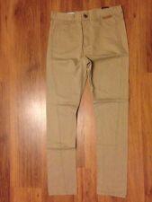 Criminal Damage Mens Sand Slim Trousers Size W30 L31