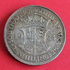 SOUTH AFRICA 1924 GEORGE V SILVER HALF CROWN