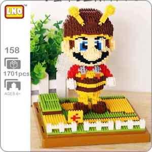 Bee Mario Super Mario Brothers SMB Nintendo Nanoblock 3D Puzzle 1701 Pieces