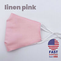 Light Pink Handmade Reusable Washable Cotton Face Mask Double Layers-Light Pink