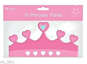 12 PRINCESS TIARA kids paper Party birthday bag costume fancy dress GIRL