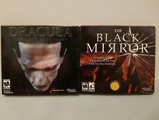 Drácula el último santuario + El Espejo Negro Horror Conjunto de 2 juegos de PC DVD NUEVO