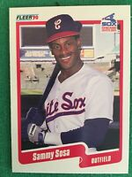 Error Card 1990 Fleer Sammy Sosa #548 Rookie Baseball Card Wrong Birth Date