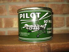 Antique Advertising PILOT Chewing Tobacco Metal Can, Airplane