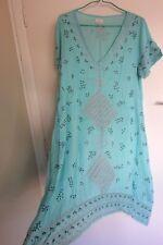New Adrift / VINTAGE EARTH Sz S (generous) Blue & Silver Dress, $169 NWOT