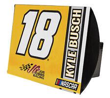 NASCAR #18 Kyle Busch Metal Trailer Hitch Cover-NASCAR Trailer Hitch Cover