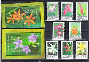 GRENADA 1993  FLOWERS SET&S/S   MNH VF