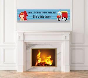 Future Firefighter -Baby Shower Printed Banner-Indoor Outdoor Firefighter Banner