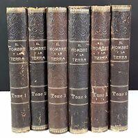 L'HOMME ET LA TERRE. 6 VOLUMES. ELISEO RECLUS. EDITORIAL MAUCCI. S/D.