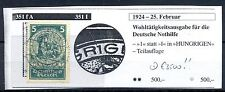 GERMANY  1924  MI# 351 I  CV € 3500  PLATE FAULT  USED  VF