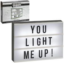 LED Luz letra Caja Signo mensaje A4 Negro Tamaño letras Hogar Boda Fiesta