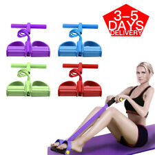 Foot Pedal Pull Rope Resistance 4-Tube Home Fitness Yoga Gym Equipment Sit-up_U~