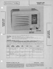 1947 PACKARD-BELL 5DA RADIO SERVICE MANUAL SCHEMATIC PHOTOFACT DIAGRAM REPAIR