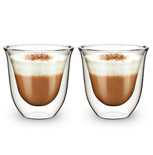More details for double wall insulated glass thermal coffee glass mug tea cup 165ml