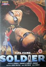 SOLDIER - RARE EROS BOLLYWOOD DVD - Bobby Deol, Preity Zinta, Rakhee Gulzar.